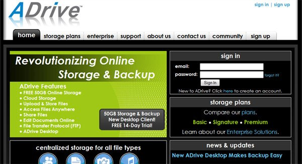ADrive Online Data Backup