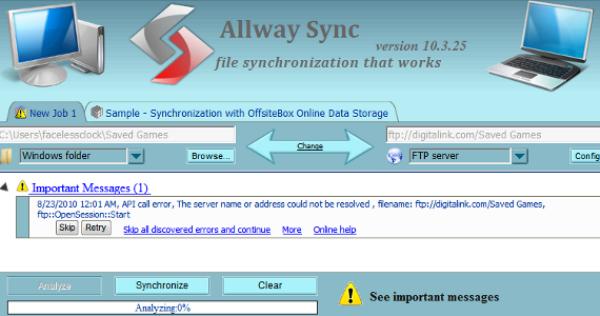 AllwaySync Online Data Backup