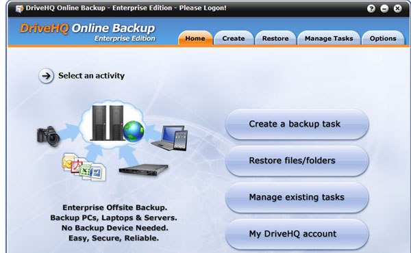 DriveHQ Online data backup services