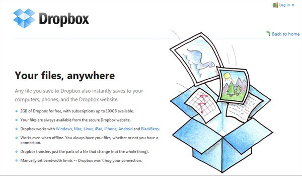 Dropbox Online Data Backup
