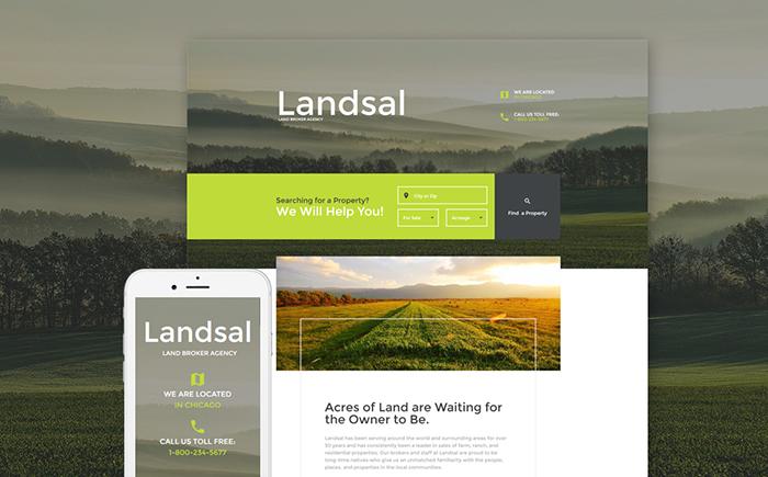 Land Broker Responsive Landing Page Template