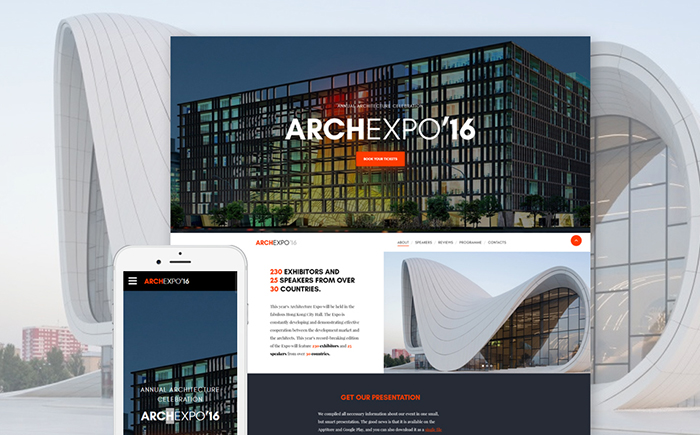 architectural website template