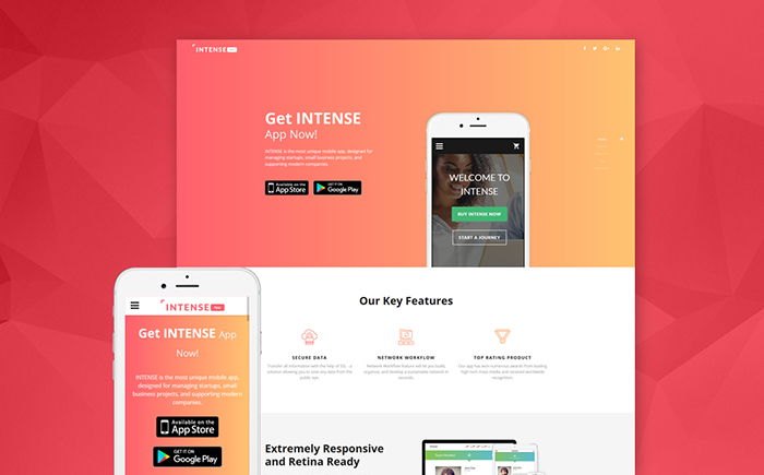 Mobile Applications Landing Page Template